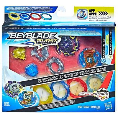 Beyblade Burst Evolution: Quad Ring Combat Pack - Only at GameStop