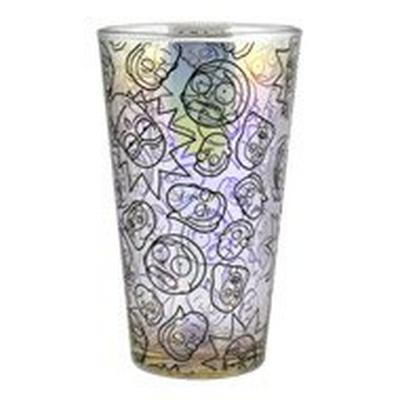 Rick and Morty Iridescent Pint Glass