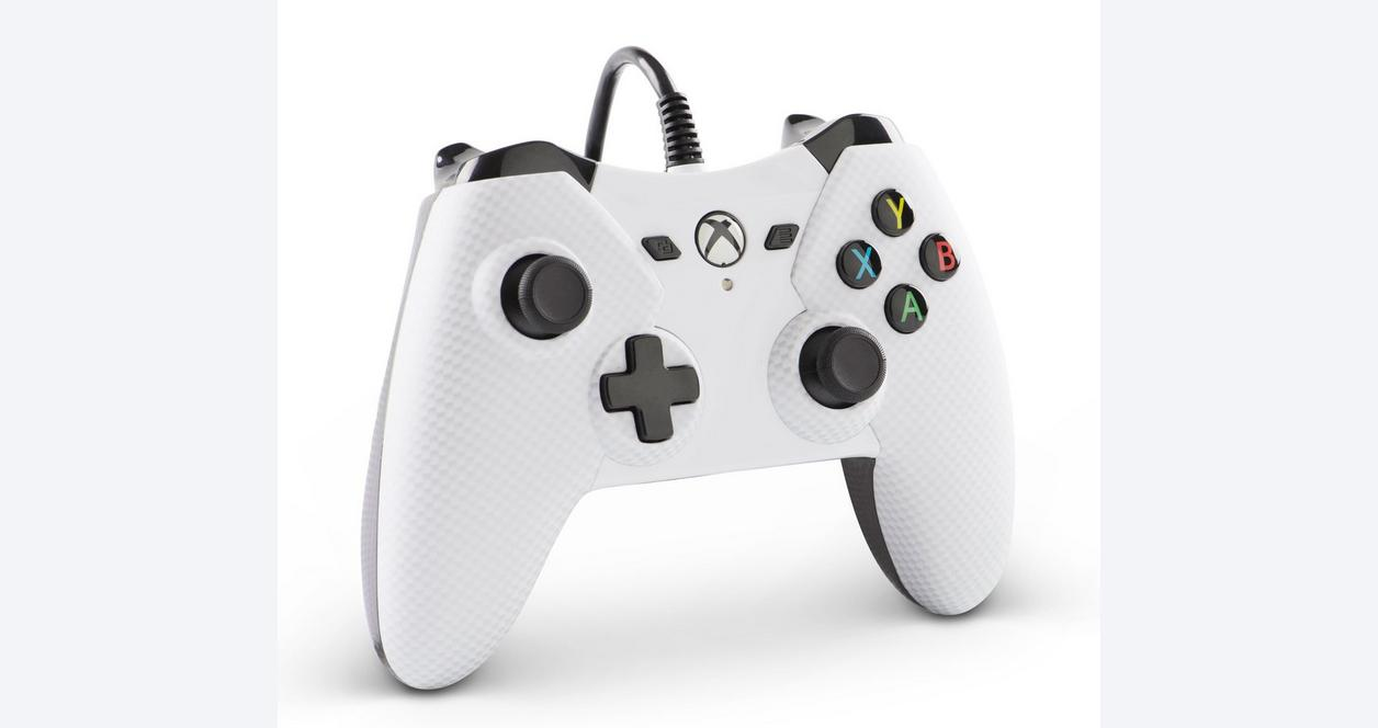 PowerA Wired Controller for XBOX One - White Carbon Fiber