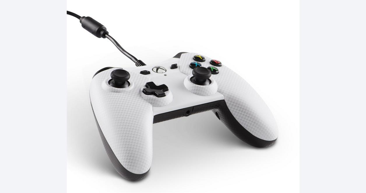 Xbox One White Carbon Fiber Wired Controller