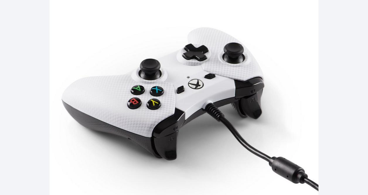 PowerA Wired Controller for XBOX One - White Carbon Fiber | Xbox One |  GameStop
