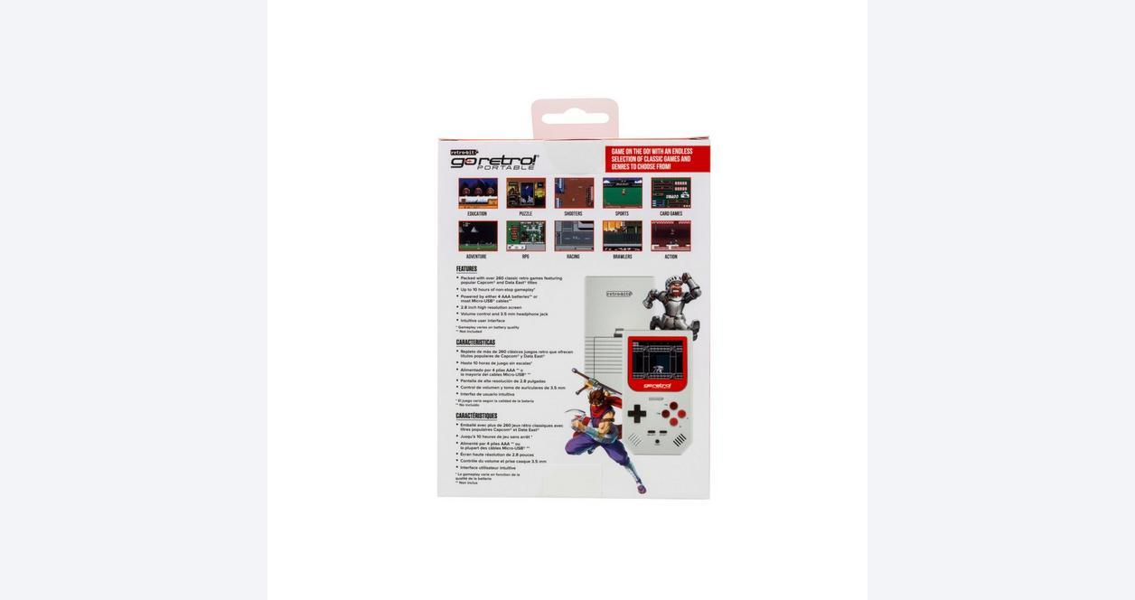 Go Retro Portable - White/Red