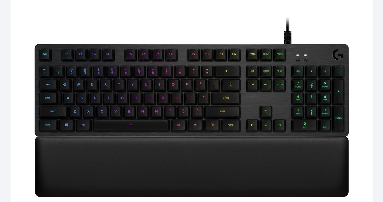 G513 Lightsync RGB Romer-G Tactile Switches Carbon Wired Mechanical Gaming Keyboard