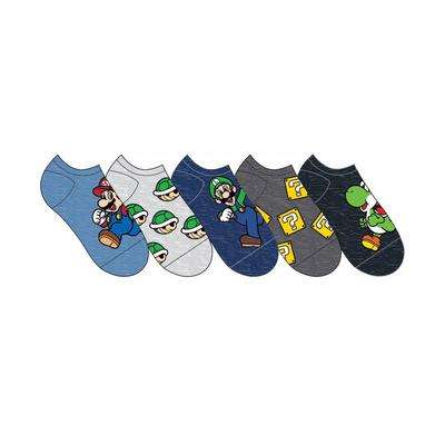 Super Mario Bros Mario Luigi Yoshi Socks 5 Pair