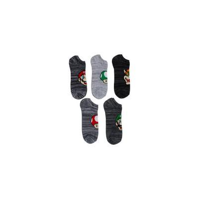 Super Mario Bros. Gray Socks 5 Pair