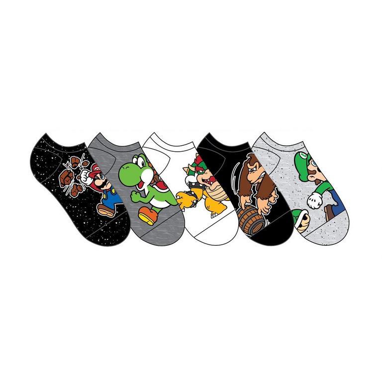 Super Mario Bros. Characters Socks 5 Pair