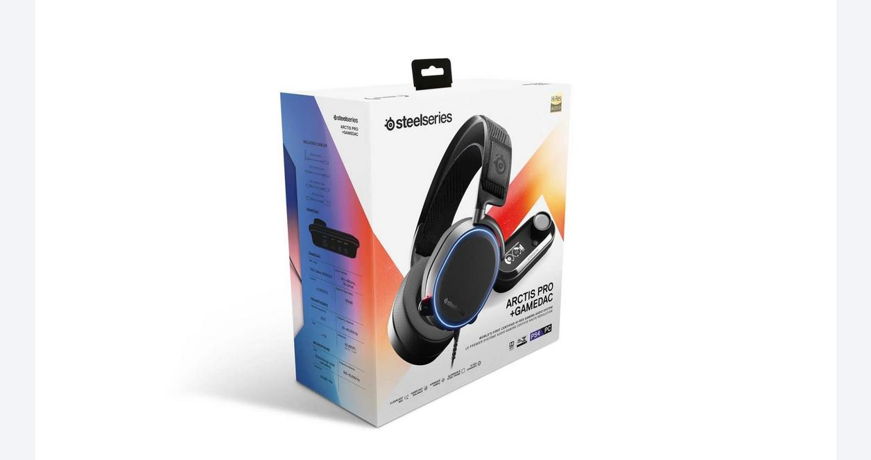 PlayStation 4 Arctis Pro and GameDAC Hi-Res Black Wired Gaming Headset