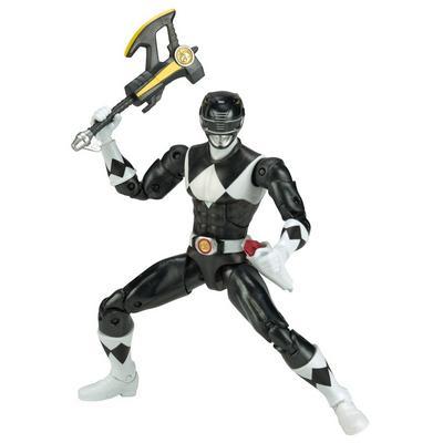 Power Rangers Legacy 6 inch Figure: Mighty Morphin Power Rangers - Black Ranger Metallic - Only at GameStop