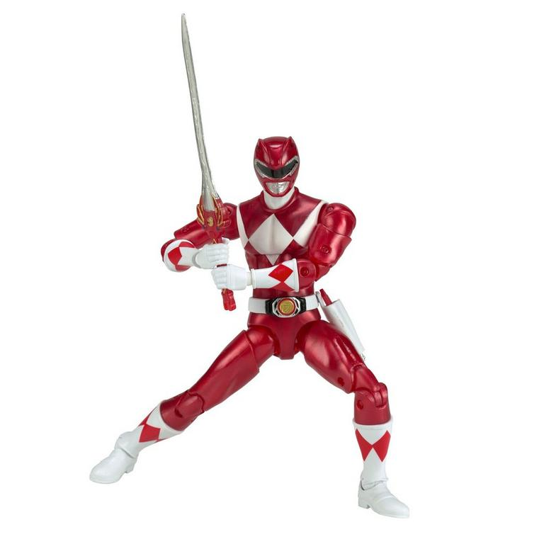Power Rangers Legacy 6 inch Figure: Mighty Morphin Power Rangers - Red Ranger Metallic - Only at GameStop