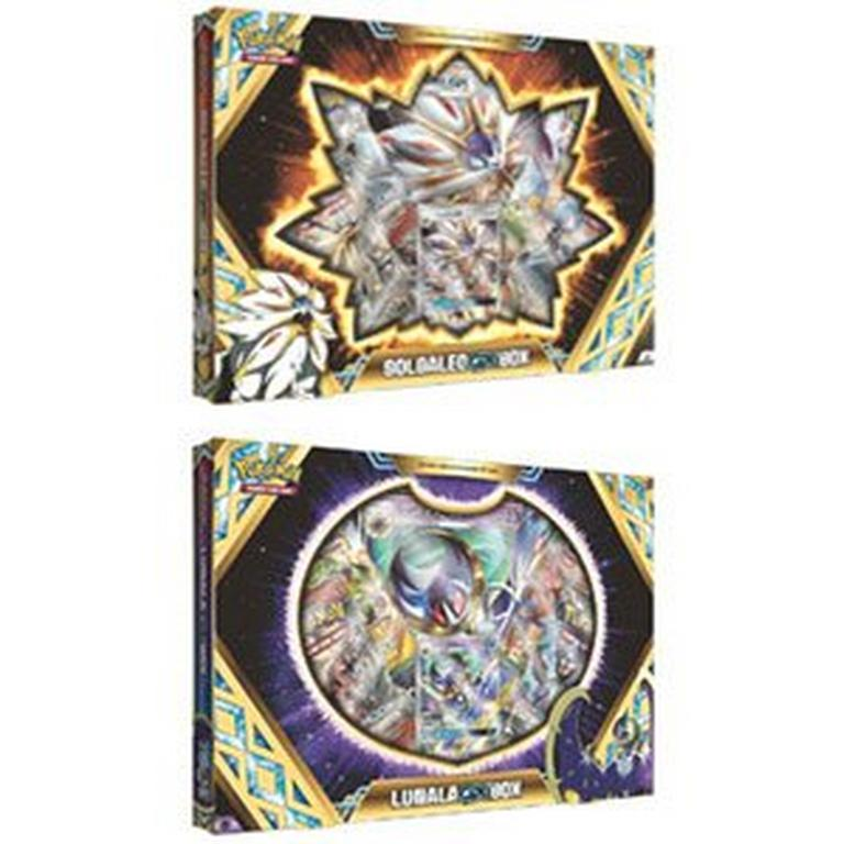 Pokemon Trading Card Game: Solgaleo-GX Box or Lunala-GX Box (Assortment)