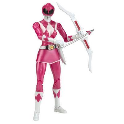 Power Rangers Legacy 6 inch Figure: Mighty Morphin Power Rangers - Pink Ranger Metallic - Only at GameStop
