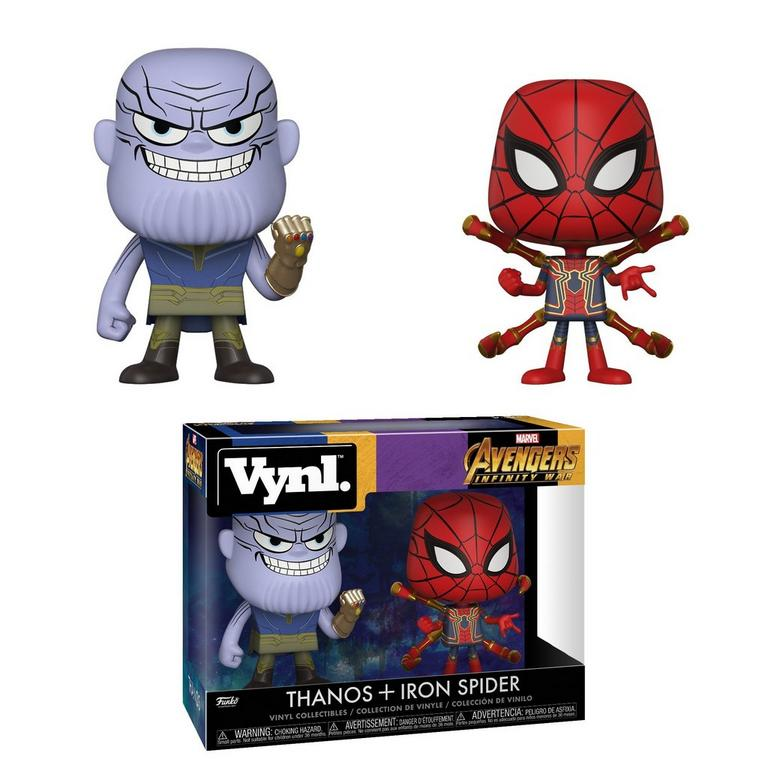 VYNL: Marvel Avengers: Infinity War Thanos and Iron Spider 2 Pack