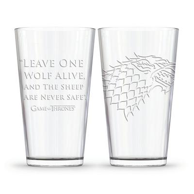 Game of Thrones House Stark Pint Glass