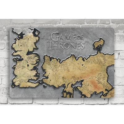 Game of Thrones Westeros Map Wall Art