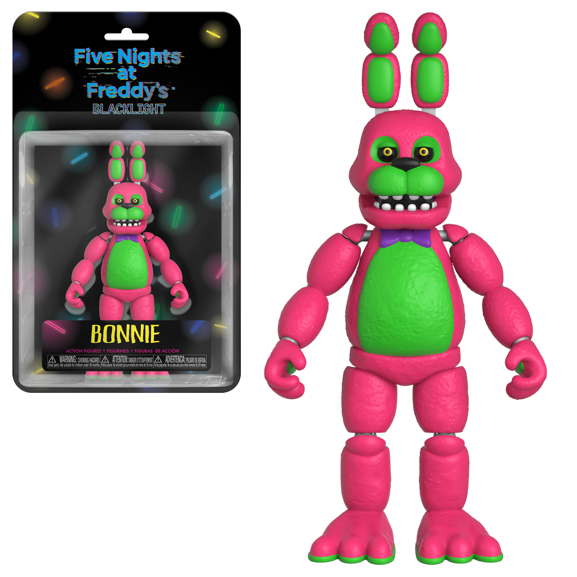 Five Nights At Freddy's Bonnie Animated five nights at freddys blacklight bonnie figure