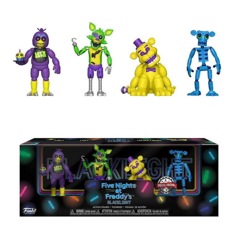 Five Nights at Freddy's Blacklight 2 inch Figure 4 Pack - Set 1