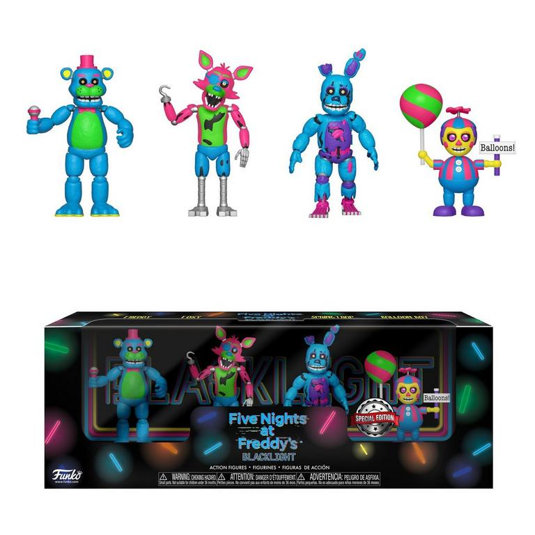 Five Nights at Freddy's Blacklight 2 inch Figure 4 Pack - Set 2