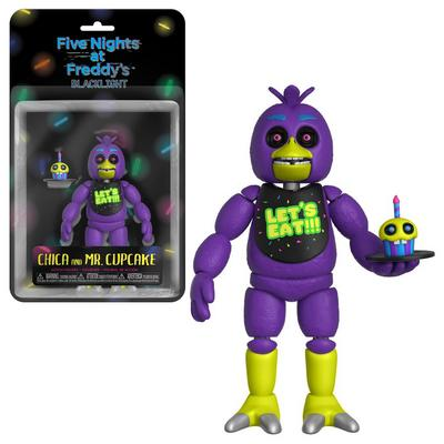 Five Nights at Freddy's Blacklight Chica Figure