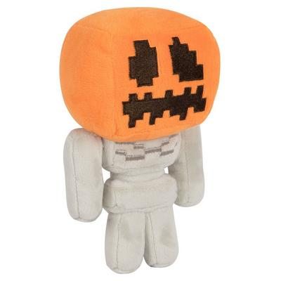 Minecraft Happy Explorer Pumpkin Head Skeleton Plush