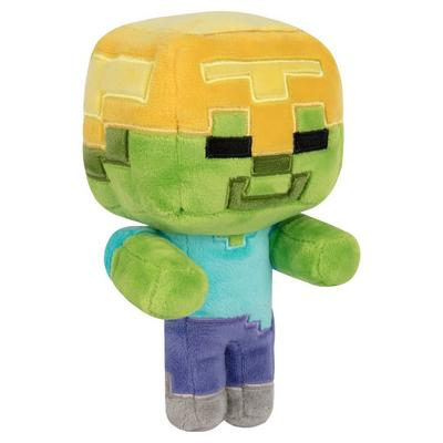 Minecraft Gold Helmet Zombie Plush