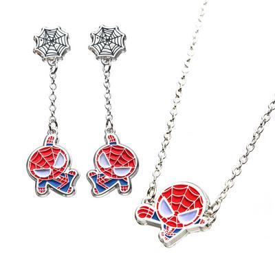 Spider-Man Earrings and Necklace