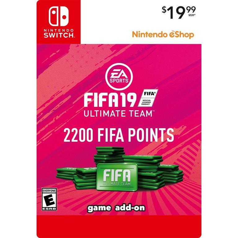 FIFA 19 2200 Ultimate Team Points Digital Card