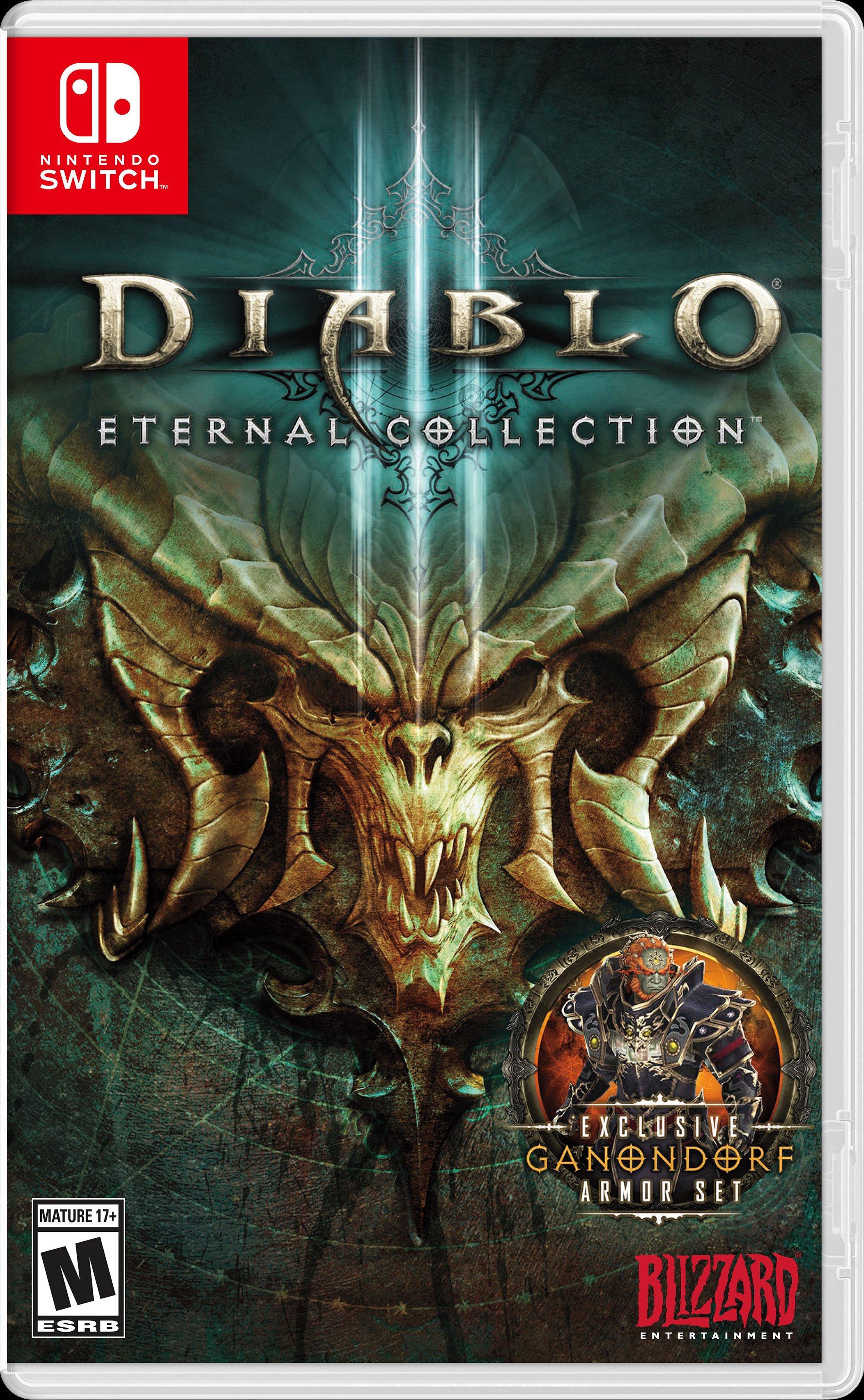 Il bundle Nintendo Switch Diablo III Eternal Collection include: Una console.