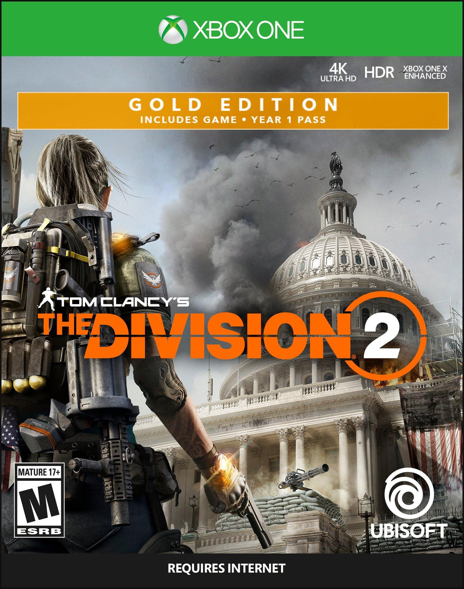 Tom Clancys The Division 2 Steelbook Gold Edition Xbox One Gamestop