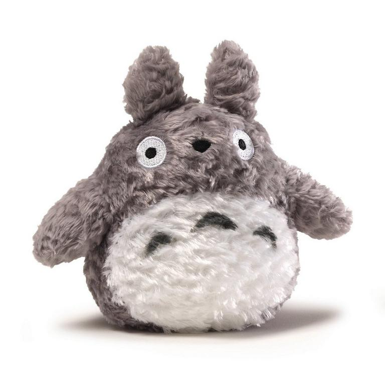 Fluffy Totoro Grey Small Plush