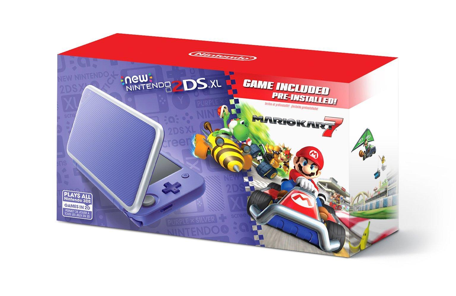 Nintendo 2DS XL Purple and Silver Mario Kart 7 Bundle | Nintendo 2DS |  GameStop