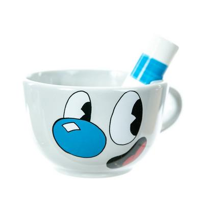 Cuphead Mugman Sculpted Mug with Straw
