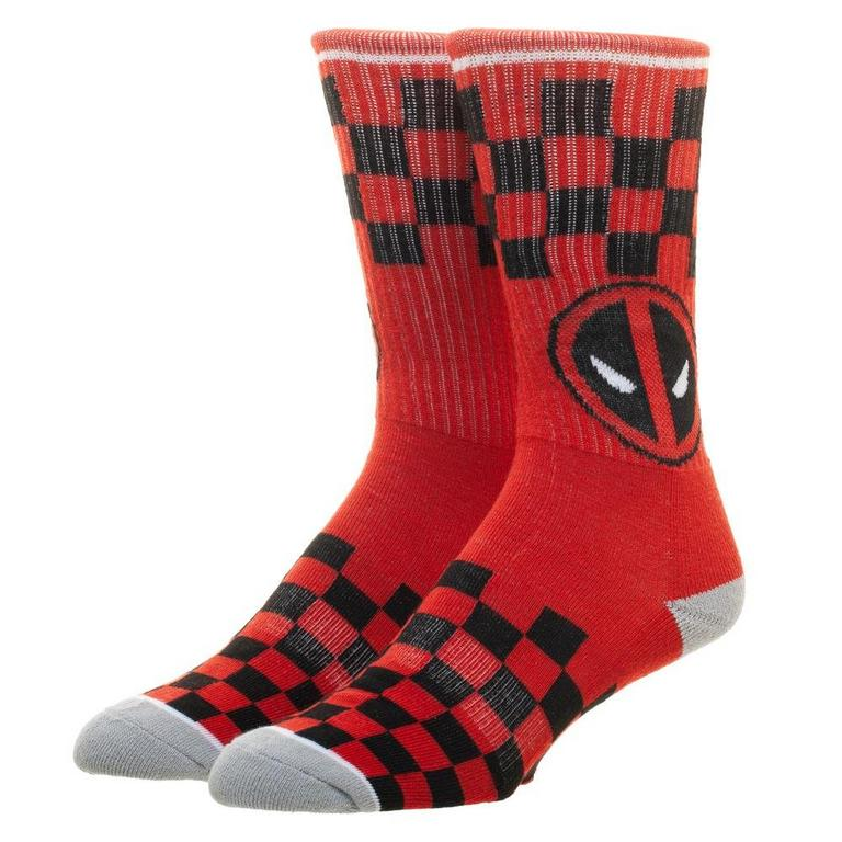 Deadpool Checkered Socks