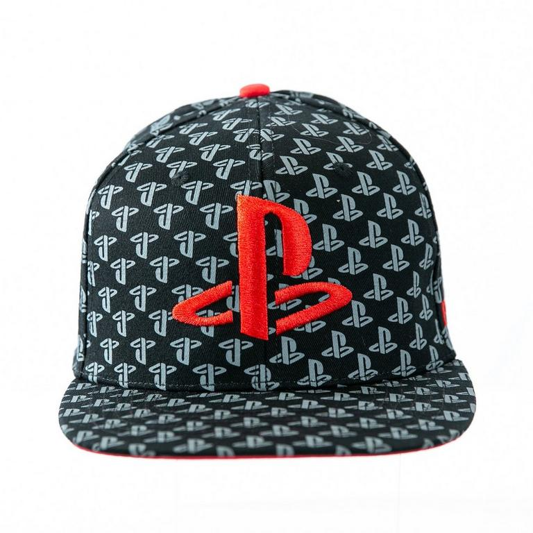 PlayStation Logo All-Over-Print Baseball Cap