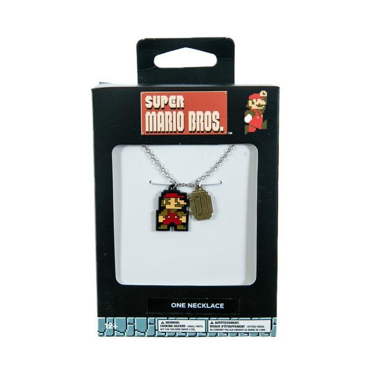 Super Mario Bros. Mario and Coin Necklace
