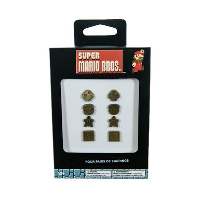 Super Mario Bros. Stud Earrings 4 Pack