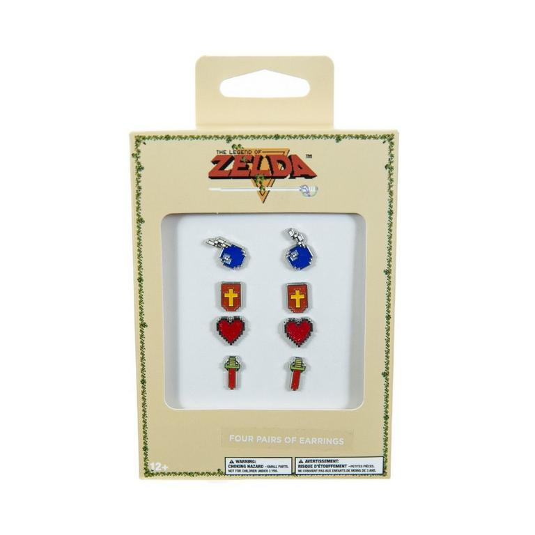 The Legend of Zelda Stud Earrings 4 Pack