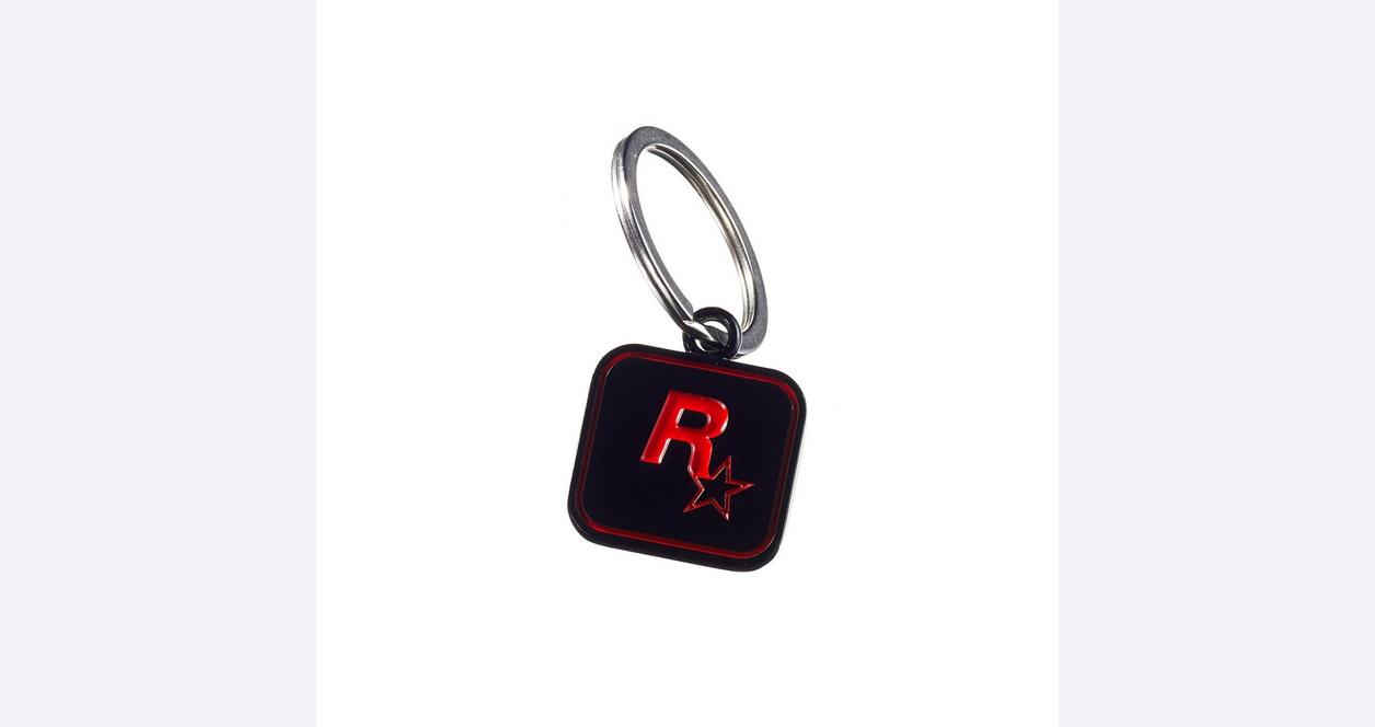 Red Dead Redemption 2 Rockstar Logo Black Keychain