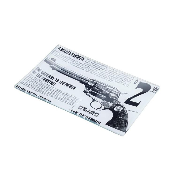 Red Dead Redemption 2 Glass Decoupage Revolver Tray 4 x 6 in Only at GameStop