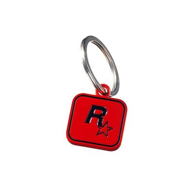 Red Dead Redemption 2 Rockstar Logo Red Keychain