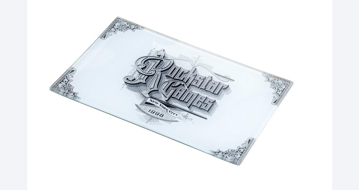 Red Dead Redemption 2 Glass Decoupage Vintage Rockstar Tray 4 x 6 in Only at GameStop