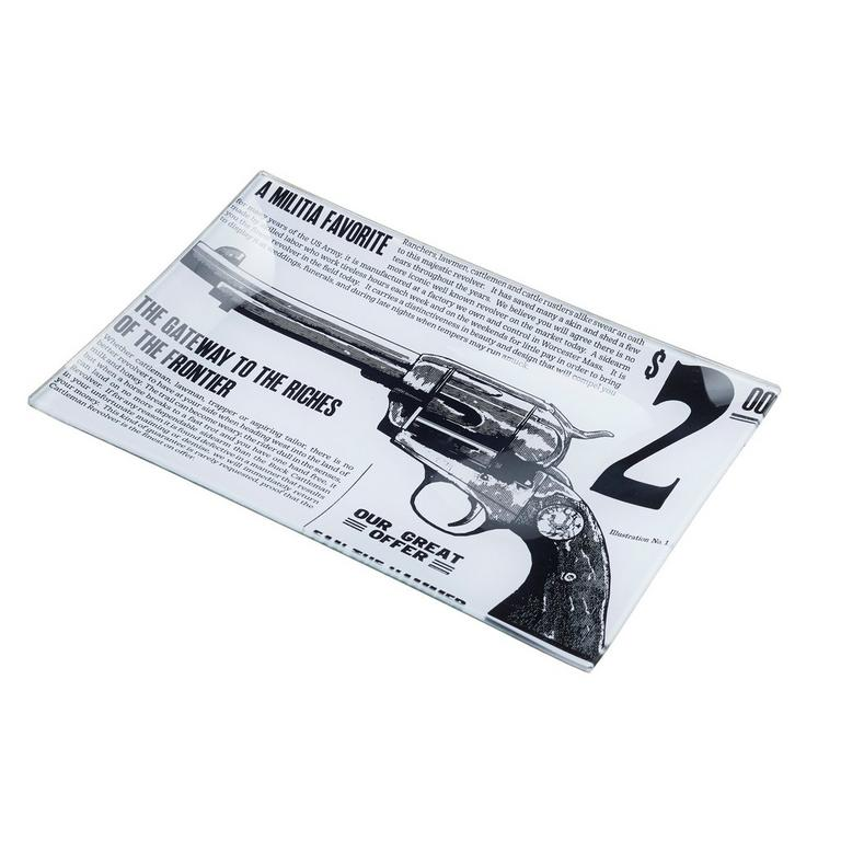 Red Dead Redemption 2 Glass Decoupage Revolver Tray 6 x 9 inch Only at GameStop