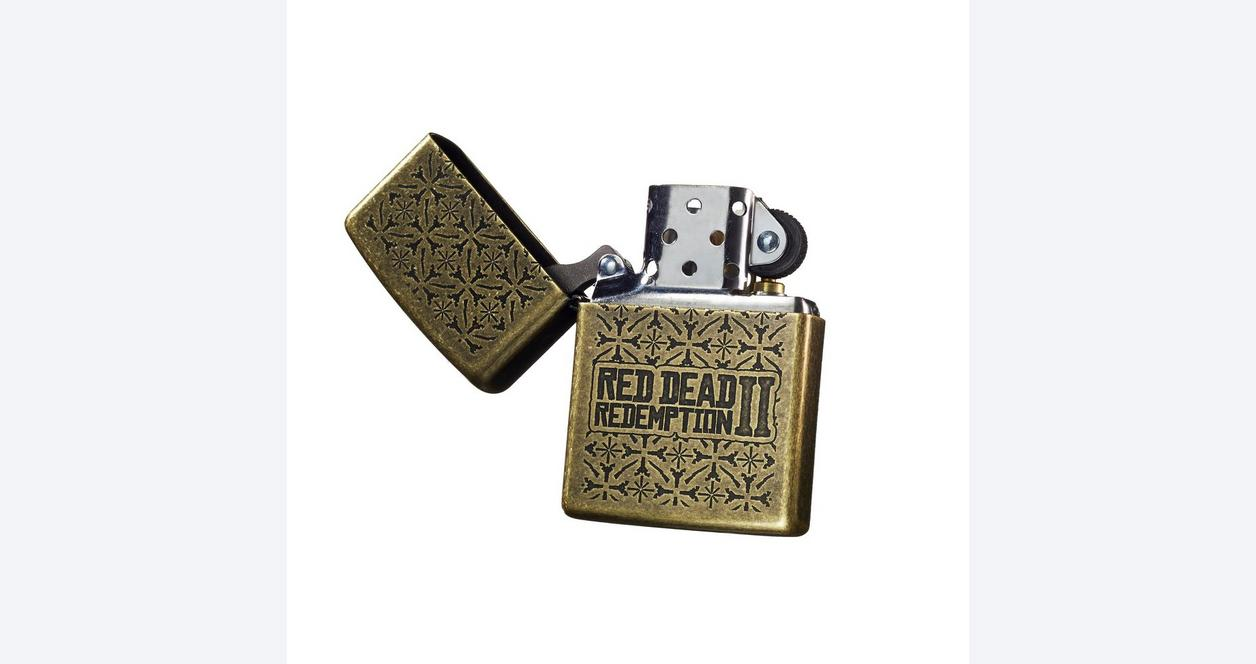 Red Dead Redemption 2 Brass Zippo Lighter Only at GameStop