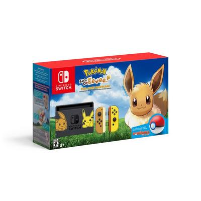 Nintendo Switch Pikachu and Eevee Edition with Pokemon: Let's Go, Eevee! Bundle