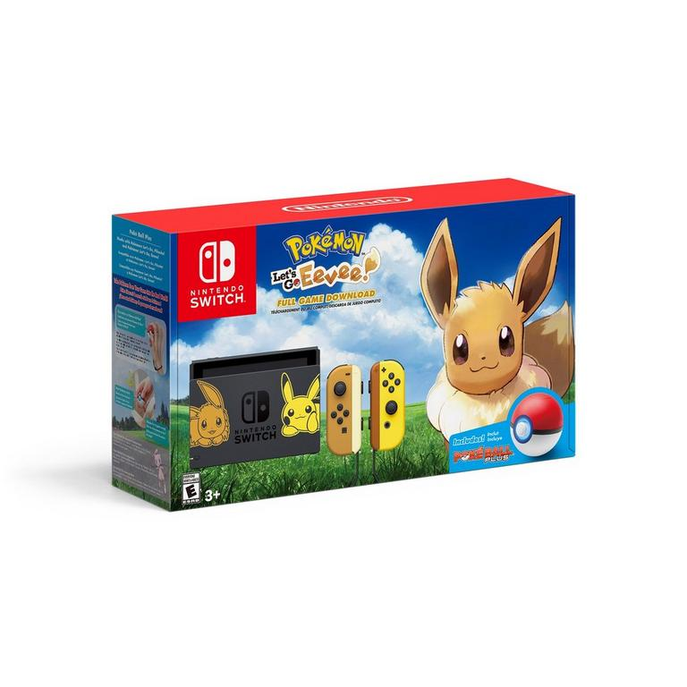 Nintendo Switch Pikachu and Eevee Edition with Pokemon: Let's Go, Eevee! Bundle
