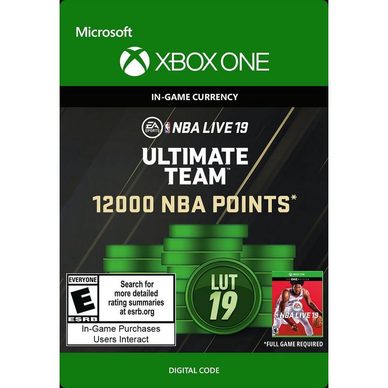 NBA Live 19 12000 Ultimate Team Points Digital Card