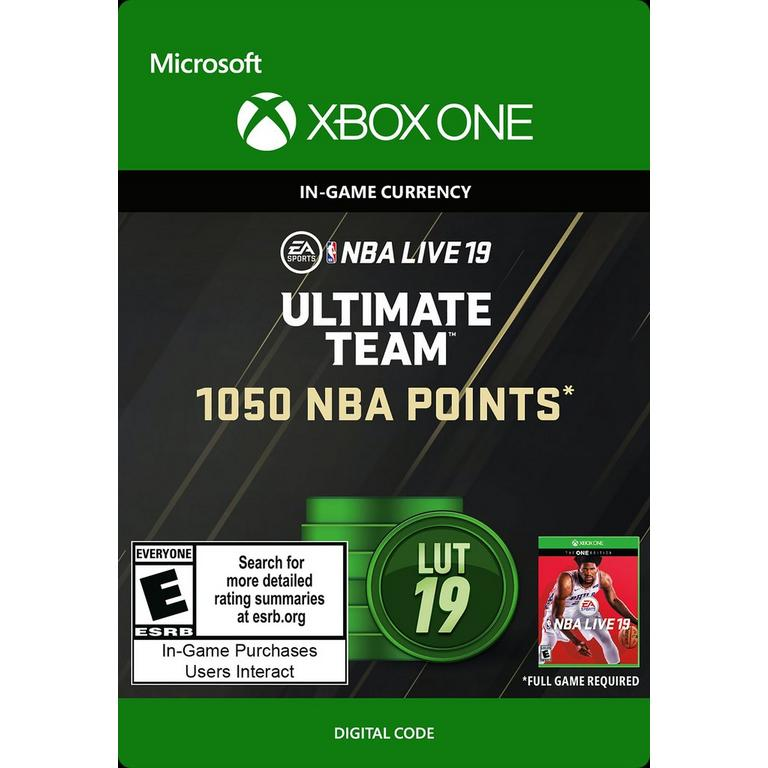 NBA Live 19 1050 Ultimate Team Points Digital Card
