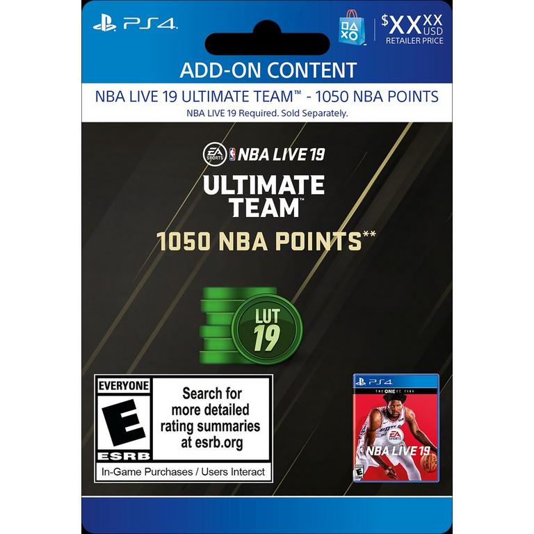 NBA Live 19 Ultimate Team 1,050 NBA Points