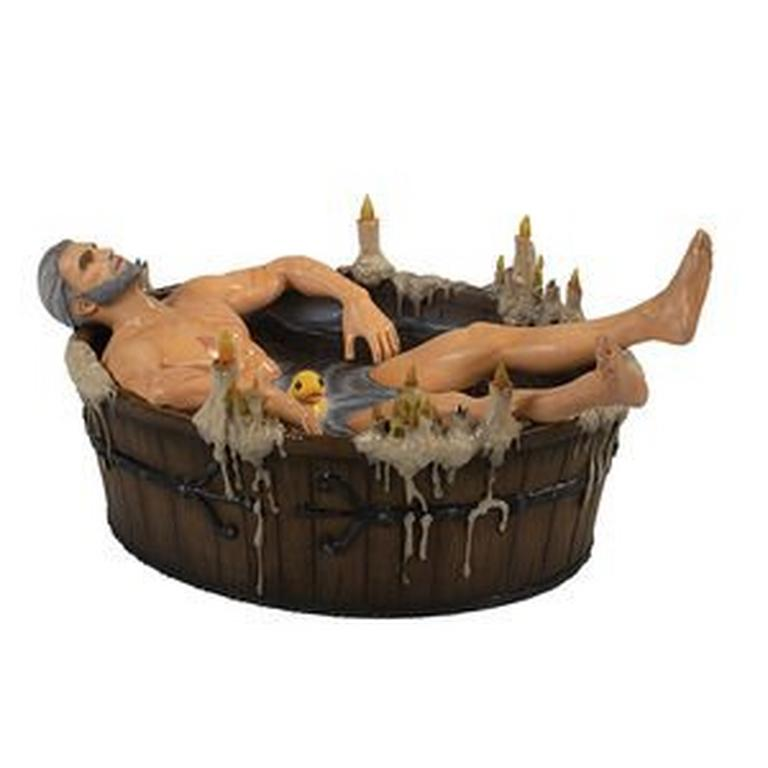 The Witcher III: Wild Hunt Geralt in the Bath Statue