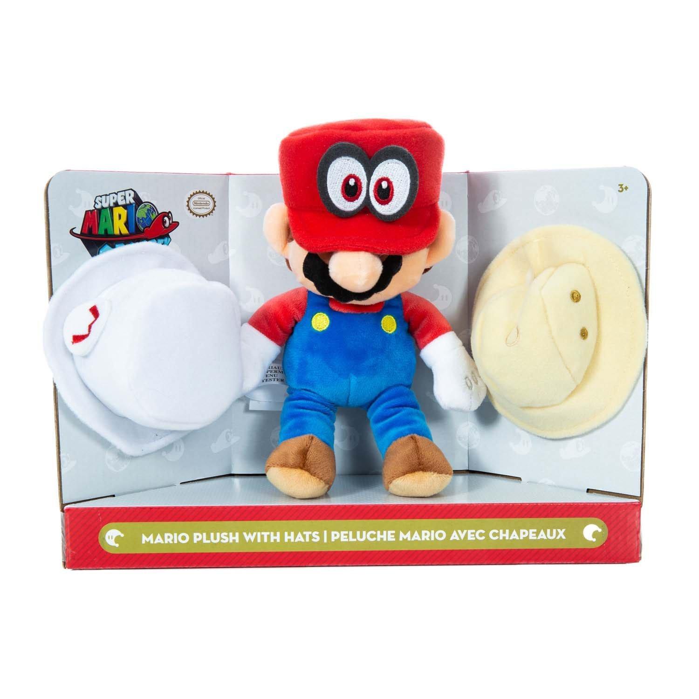 Super Mario Odyssey Mario With Hats Plush Gamestop