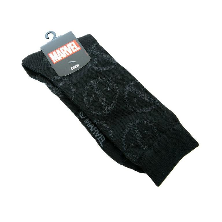 Deadpool Black Logo Socks